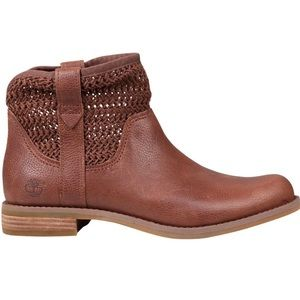 Timberland Brown Savin Hill Open-Weave Ankle Boot
